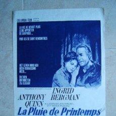 Cine: LA PLUIE DE PRINTEMPS-SECRETOS DE UNA ESPOSA-GUY GREEN-INGRID BERGMAN-ANTHONY QUINN-55X37CM-1970.. Lote 37047321