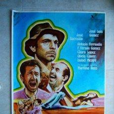 Cine: PARRANDA-GONZALO SUAREZ-JOSE SACRISTAN-ANTONIO FERRANDIS-POSTER ILUSTRADOR MAURO 100X70-1977-ESTRENO. Lote 37047763