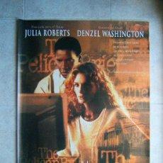 Cine: EL INFORME PELICANO-ALAN J.PAKULA-JULIA ROBERTS-DENZEL WASHINGTON-SIN DOBLECES 100X66-1993-ESTRENO. . Lote 37050562