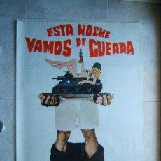Cine: ESTA NOCHE VAMOS DE GUERRA-HY AVERBACK-TONY CURTIS-BRIAN KEITH-POSTER100X70CM-1970-ESTRENO EN ESPAÑA. Lote 37051576