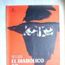 Cine: EL DIABOLICO DR. MABUSE-DR. HARALD REINL-GERT FROBE-LEX BARKER-POSTER 96X67CM-1963-ESTRENO EN ESPAÑA. Lote 37052487