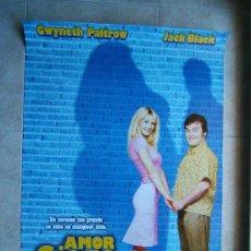 Cine: AMOR CIEGO-BOBBY FARRELLI-GWYNETH PALTROW-JACK BLACK-POSTER SIN DOBLECES-98X68CM-2001-ESTRENO ESPAÑA. Lote 37056432
