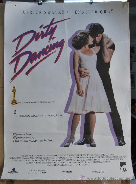 Antiguo cartel poster cine pelicula dirty danci comprar - Pelicula dirty dancing ...