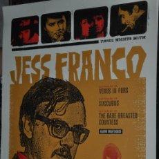Cine: CARTEL CINE ZACH HOBBS LITOGRAFICO THREE JESS FRANCO CLASSICS , TORREMOLINOS. Lote 37325022
