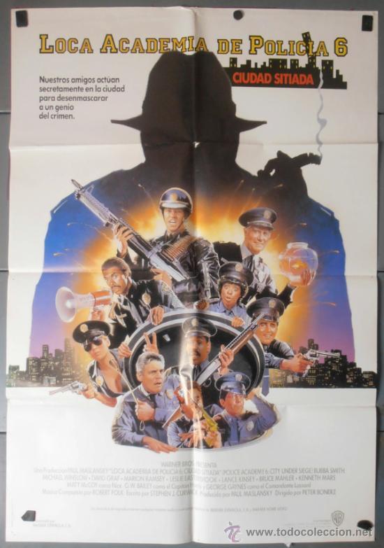 LOCA ACADEMIA DE POLICIA 6, CARTEL DE CINE ORIGINAL 70X100 APROX (7677) (Cine - Posters y Carteles - Comedia)