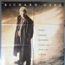 Cine: LAS DOS CARAS DE LA VERDAD,RICHARD GERE CARTEL DE CINE ORIGINAL 70X100 APROX (7830). Lote 37247715