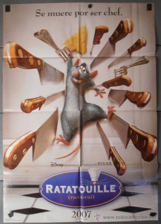 RATATOVILLE,DISNEY CARTEL DE CINE ORIGINAL 70X100 APROX (8090) (Cine - Posters y Carteles - Infantil)
