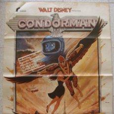 Cine: CARTEL WALT DISNEY CONDORMAN , 100X70 OLIVER REED BARBARA CARRERA.,OFERTA ,LEER. Lote 78311633