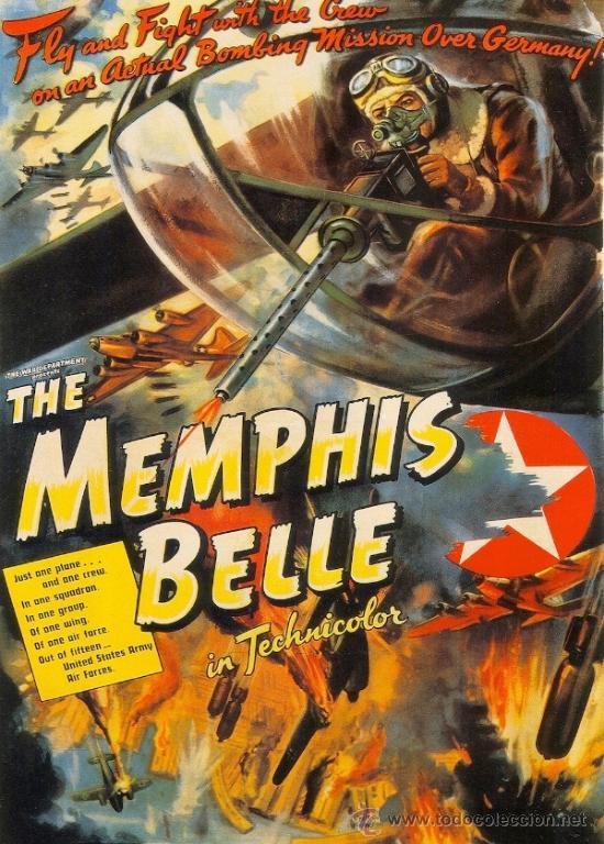 CUADRO CARTEL DE CINE. AVION B17 THE MEMPHIS BELLE. EN MADERA. 70X50 CM. RARO (Cine - Posters y Carteles - Ciencia Ficción)