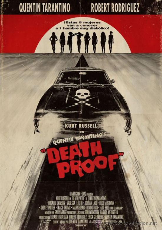 cuadro cartel de cine. tarantino. death proof. - Comprar Carteles y ...