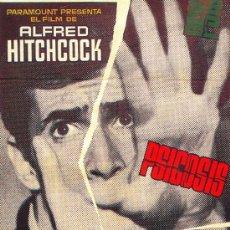 Cine: CUADRO CARTEL DE CINE. PSICOSIS. ALFRED HITCHCOCK. EN MADERA DE 40X20 CM.. Lote 146443388