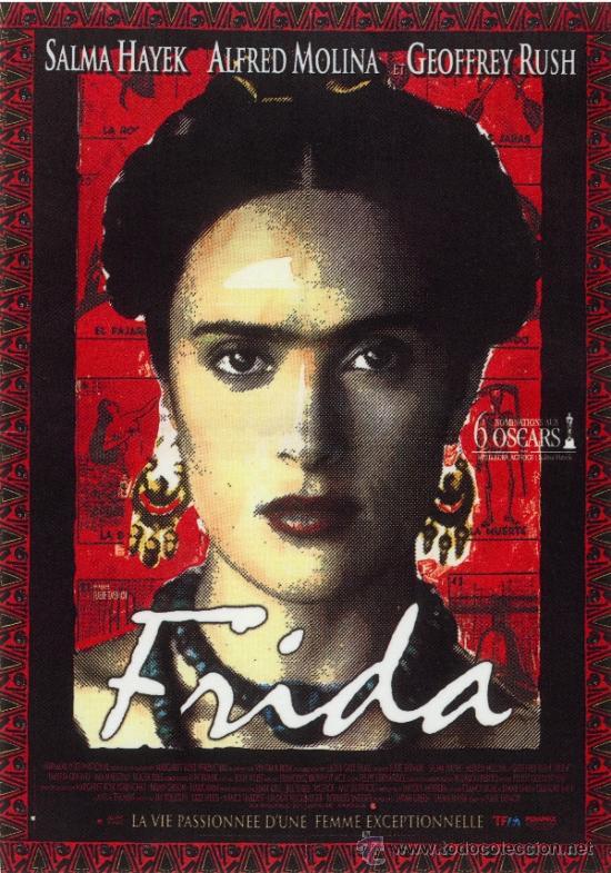 cuadro cartel de cine. frida kahlo. en madera d - Comprar Carteles y ...