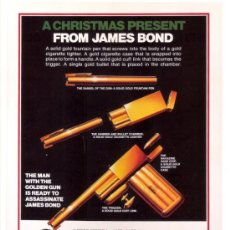 Cine: CUADRO CARTEL DE CINE. JAMES BOND 007. ROGER MOORE. EN MADERA DE 35X50 CM.. Lote 106821470