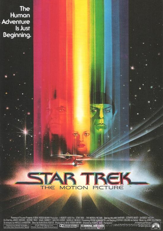 CUADRO CARTEL DE CINE. STAR TREK. EN MADERA DE 70X50 CM. (Cine - Posters y Carteles - Ciencia Ficción)
