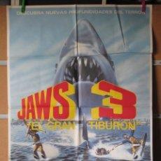 Cine: JAWS 3 EL GRAN TIBURON. Lote 46875042