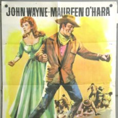 Cine: RV21 EL GRAN MACLINTOCK JOHN WAYNE MAUREEN O'HARA POSTER ORIGINAL 70X100 ESTRENO. Lote 37441710