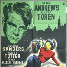 Cine: RV17 DESTINO BUDAPEST DANA ANDREWS MARTA TOREN JANO POSTER ORIGINAL ESTRENO 70X100 LITOGRAFIA. Lote 37442224