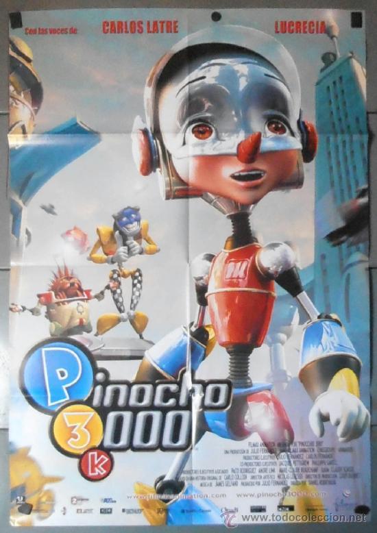 PINOCHO 3000, CARTEL DE CINE ORIGINAL 70X100 APROX (11037) (Cine - Posters y Carteles - Infantil)