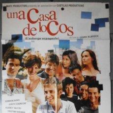 Cine: UNA CASA DE LOCOS, CARTEL DE CINE ORIGINAL 70X100 APROX (11051). Lote 295788063