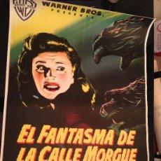 Cine: EL FANTASMA DE LA CALLE MORGUE POSTER ORIGINAL ESPAÑOL 70X100 ENTELADO LITOGRAFIA. Lote 37476132