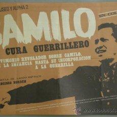 Cine: RX85 CAMILO EL CURA GUERRILLERO POSTER ORIGINAL 70X100 ESTRENO. Lote 37493584