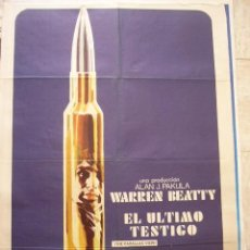 Cine: CARTEL DE CINE. EL ULTIMO TESTIGO. 1974. 100 X 70 CM APROX.. Lote 37529269