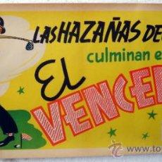 Cine: CARTEL CINE ARAJOL , EL VENCEDOR ,TEMA GOLF , ANTIGUO , LAS HAZAÑAS DE JAIMITO , ORIGINAL. Lote 37537612