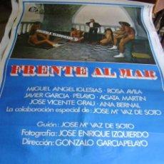 Cine: POSTER ORIGINAL ESPAÑOL 70X100 FRENTE AL MAR. Lote 37596592
