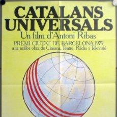 Cine: RY06 CATALANS UNIVERSALS / CATALANES UNIVERSALES ANTONI RIBAS POSTER ORIG 70X100 ESTRENO EN CATALAN. Lote 37659258