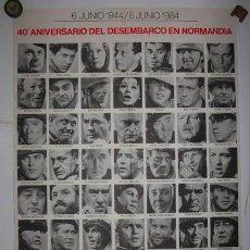 Cine: CARTEL PELÍCULA EL DIA MAS LARGO 40 ANIVERSARIO DEL DESEMBARCO DE NORMANDIA DIRECT. DARRYL F. ZANUCK. Lote 37668867