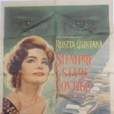 Cine: SIEMPRE ESTARÉ CONTIGO - ROSITA QUINTANA, RAFAEL BERTRAND, CARLOS RIQUELME - CARTEL CINE 70X100. Lote 37751957