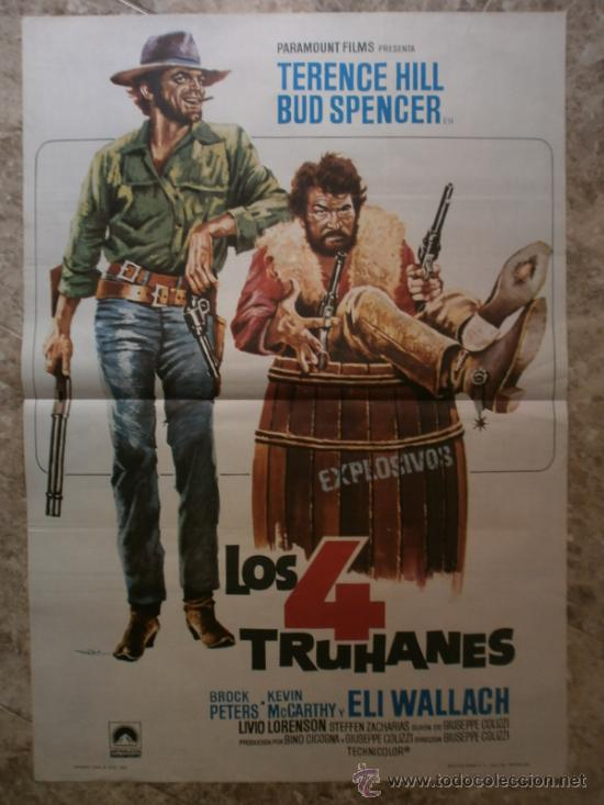 LOS 4 TRUHANES. TERENCE HILL, BUD SPENCER. AÑO 1978. (Cine - Posters y Carteles - Westerns)