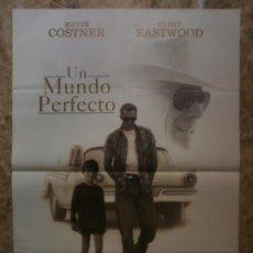 Cine: UN MUNDO PERFECTO. KEVIN COSTNER, CLINT EASTWOOD. AÑO 1993.. Lote 37760425