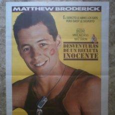 Cine: DESVENTURAS DE UN RECLUTA INOCENTE. MATTHEW BRODERICK. AÑO 1988.. Lote 37827960