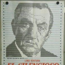 Cine: TK70 EL SILENCIOSO LINO VENTURA LEA MASSARI POSTER ORIGINAL 70X100 ESTRENO. Lote 37828860