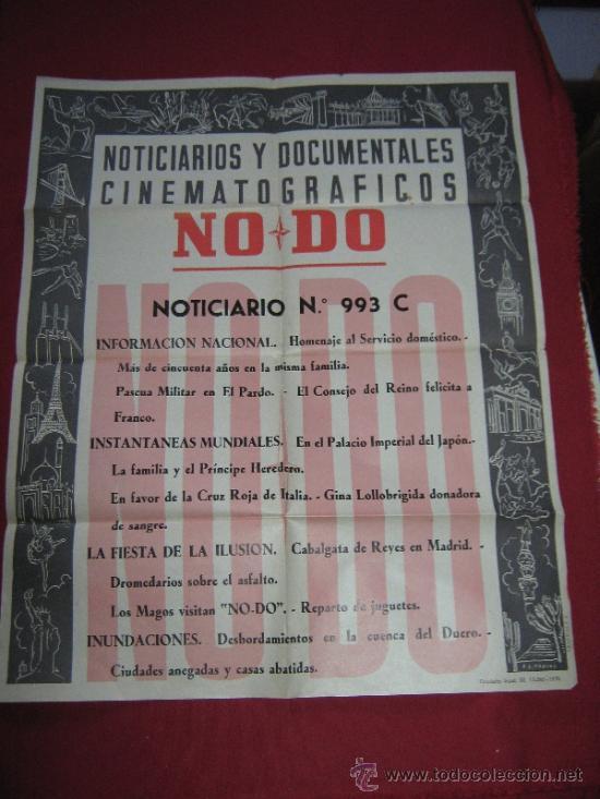 CARTEL NODO - NOTICIARIOS Y DOCUMENTALES CINEMATOGRAFICOS - Nº 993 C - 1958 (Cine - Posters y Carteles - Documentales)