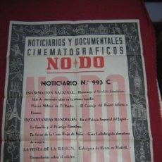 Cine: CARTEL NODO - NOTICIARIOS Y DOCUMENTALES CINEMATOGRAFICOS - Nº 993 C - 1958 . Lote 37847969