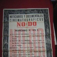 Cine: CARTEL NODO - NOTICIARIOS Y DOCUMENTALES CINEMATOGRAFICOS - Nº 970 C - 1958 . Lote 37847983