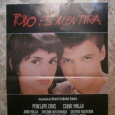 Cine: TODO ES MENTIRA. PENELOPE CRUZ, COQUE MALLA, JORDI MOLLA.. Lote 141779552