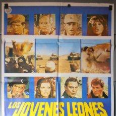 Cine: LOS JOVENES LEONES, CARTEL DE CINE ORIGINAL 70X100 APROX (9222). Lote 37882781