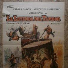 Cine: LA LEYENDA DEL TAMBOR. ANDRES GARCIA, MERCEDES SAMPIETRO, JORGE SANZ. AÑO 1981.. Lote 37900602