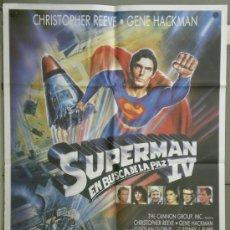Cine: QE51 SUPERMAN 4 EN BUSCA DE LA PAZ CRISTOPHER REEVE GENE HACKMAN POSTER ORIGINAL 70X100 ESTRENO. Lote 145998604