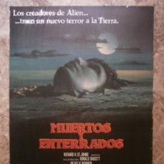 Cine: MUERTOS Y ENTERRADOS. JAMES FARENTINO, MELODY ANDERSON, JACK ALBERTSON. AÑO 1981.. Lote 37915354