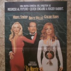 Cine: LA MUERTE OS SIENTA TAN BIEN. MERYL STREEP, BRUCE WILLIS, GOLDIE HAWN. AÑO 1992. Lote 270604438