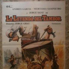 Cine: LA LEYENDA DEL TAMBOR. ANDRES GARCIA, MERCEDES SAMPIETRO, JORGE SANZ. AÑO 1981.. Lote 37929677