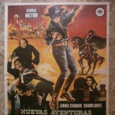 Cinema: NUEVAS AVENTURAS DEL ZORRO. GEORGE HILTON,LIONEL STANDER,CHARO LOPEZ. AÑO 1976.. Lote 37990071