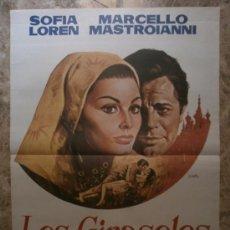 Cine: LOS GIRASOLES. SOFIA LOREN, MARCELLO MASTROIANNI. . Lote 38001662