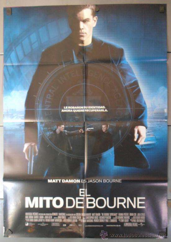 EL MITO DE BOURNE, CARTEL DE CINE ORIGINAL 70X100 APROX (9412) (Cine - Posters y Carteles - Acción)