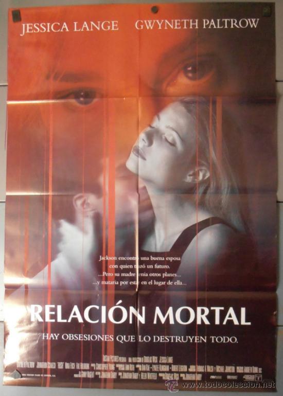 RELACION MORTAL,JESSICA LANGE CARTEL DE CINE ORIGINAL 70X100 APROX (9594) (Cine - Posters y Carteles - Suspense)