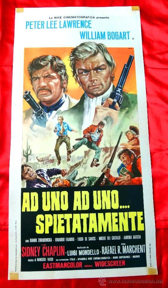 UNO A UNO SIN PIEDAD 1968 (CARTEL ESTRENO PRIMERA EDICION ITALIA) PETER LEE LAWRENCE EDUARDO FAJARDO (Cine - Posters y Carteles - Westerns)